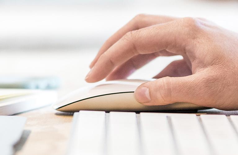 hand an maus und tastatur mobil